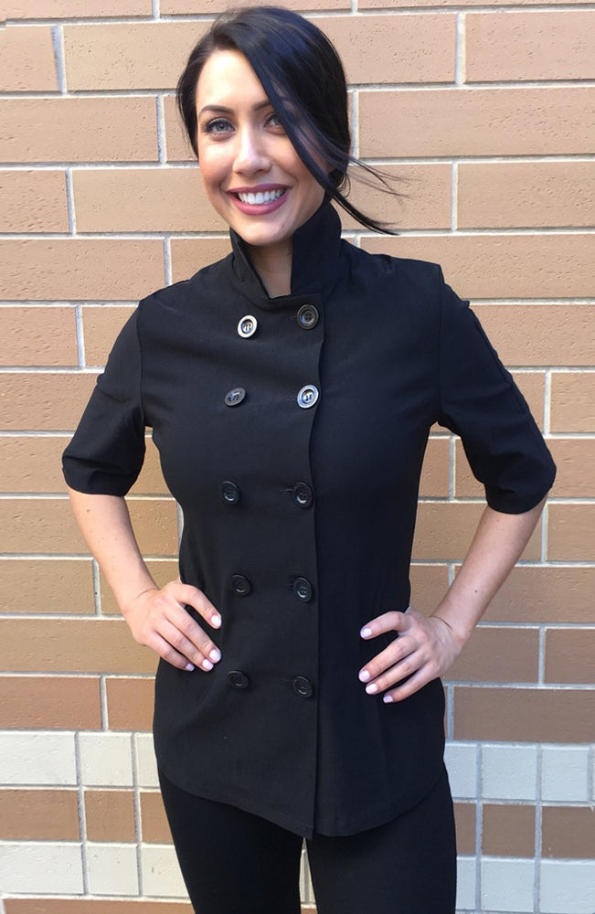 Image of Annie Short Sleeve chef Jacket