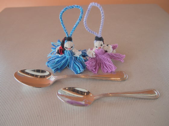 "Image of Cotton ""lady"" keychains"