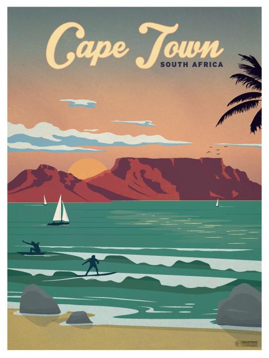 IdeaStorm Studio Store — Vintage Cape Town Poster