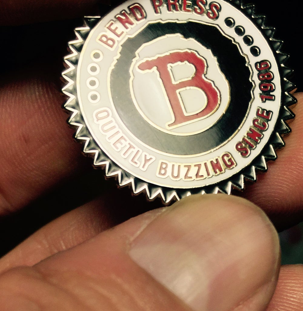 Image of BEND B ENAMEL PIN