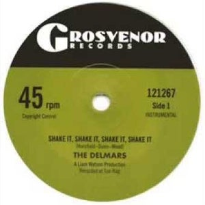 "Image of 7"" The Delmars : Shake It, Shake It, Shake It !  Ltd Edition White Vinyl."