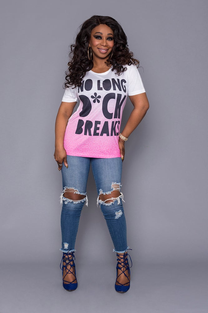 Image of No Long D*CK Breaks Unisex T-Shirt