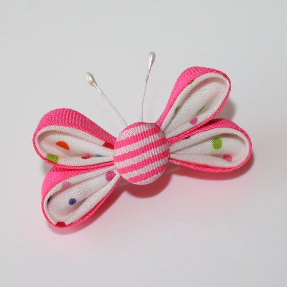 Image of Kanzashi Butterfly Ribbon Sculptures Tutorial