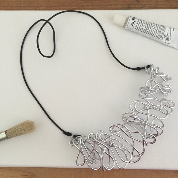 Image of Silver Scrunchie Necklace
