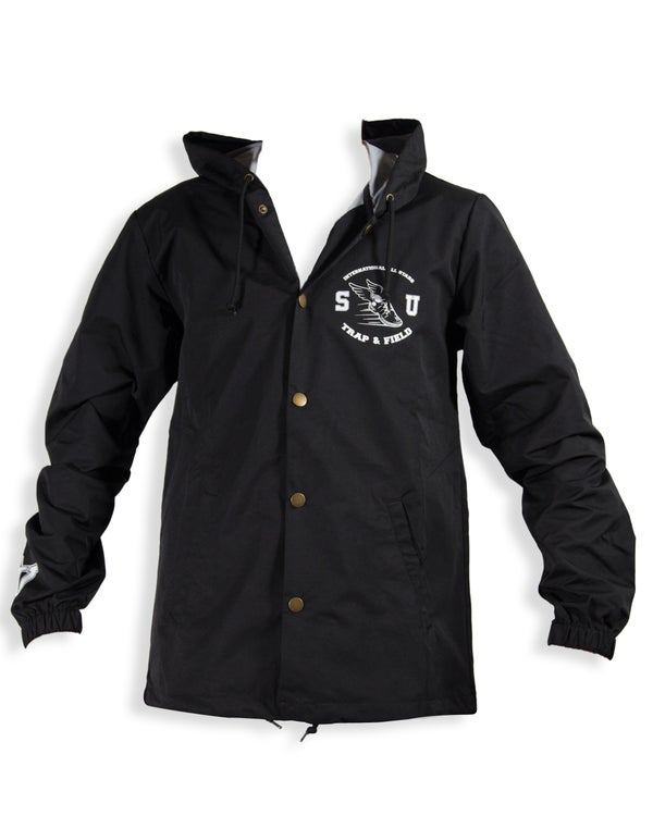 "Image of SMUGGLERS UNION ""TRAP & FIELD"" (Coaches Jacket w/Hood)"