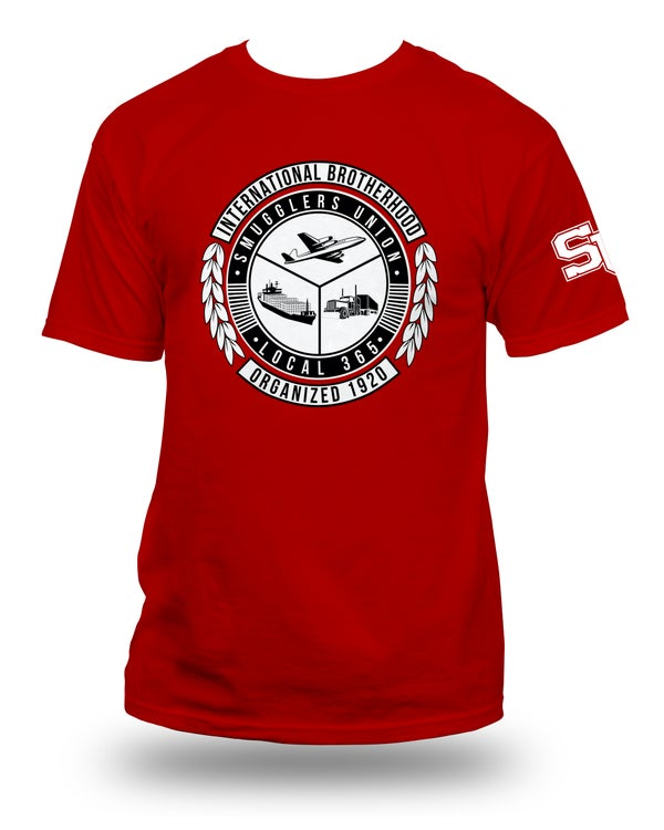 "Image of SMUGGLERS UNION ""UNION SEAL"" (T-Shirt) Black*3 Color Options"