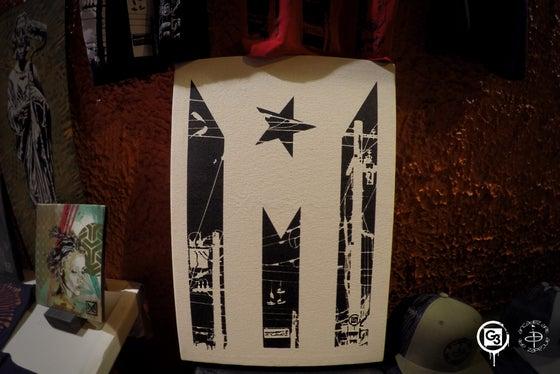 "Image of ""urban flag"" Canvas"