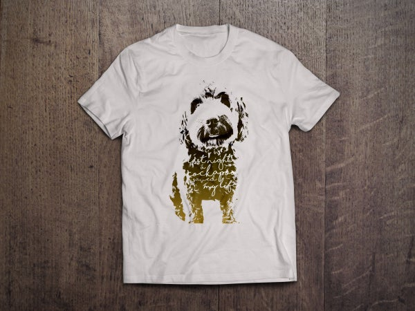 Image of 'Last Night A Cockapoo Saved My Life' T-Shirt