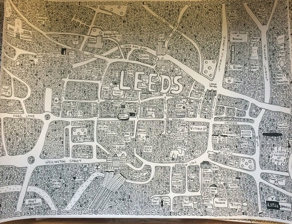 Image of Leeds Doodle Map