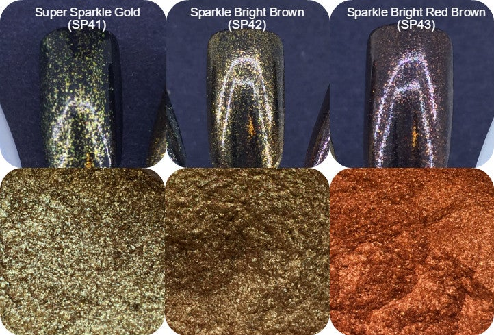 "Image of Sparks ""Super"" and ""Sparkle"" Bright Pigments </p> 3 New Colors!"
