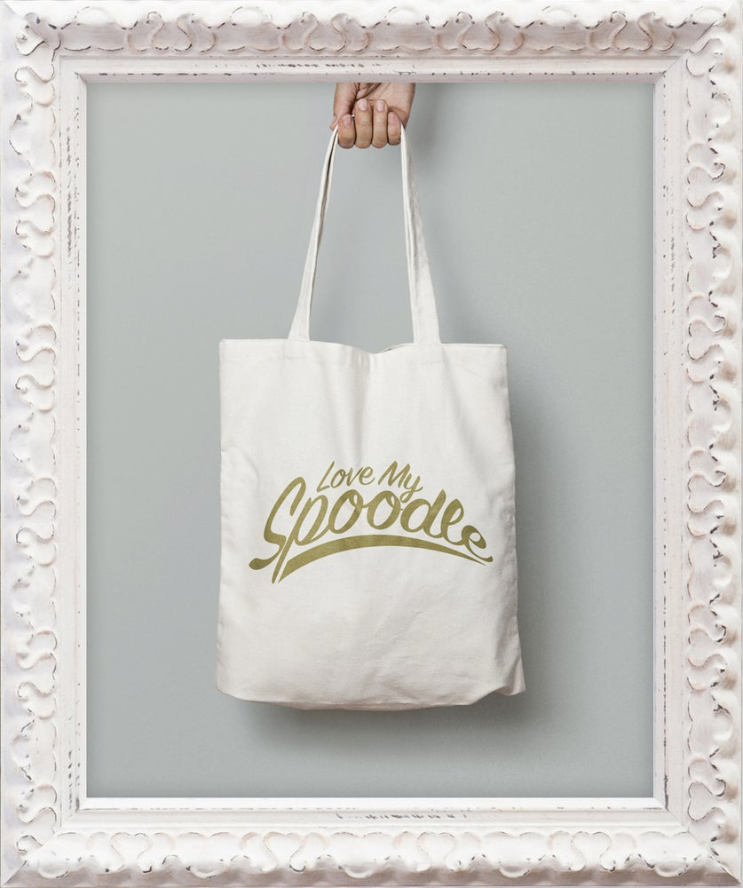 Image of 'Love My Spoodle' Tote Bag