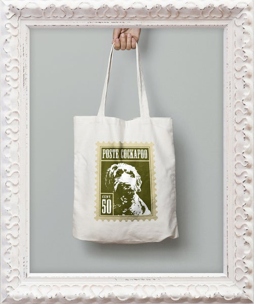 Image of 'Poste Cockapoo' Stamp Tote Bag