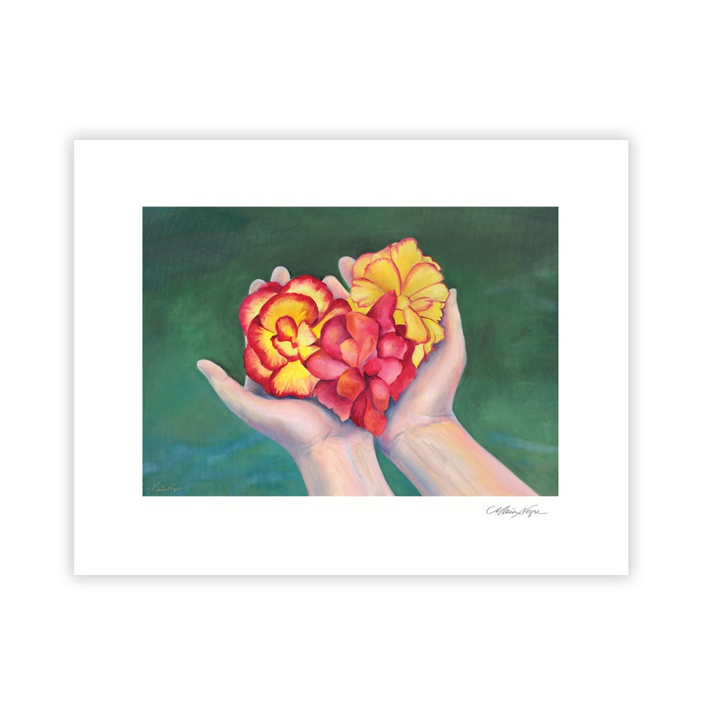 Image of Thank You Begonias, Archival Paper Print