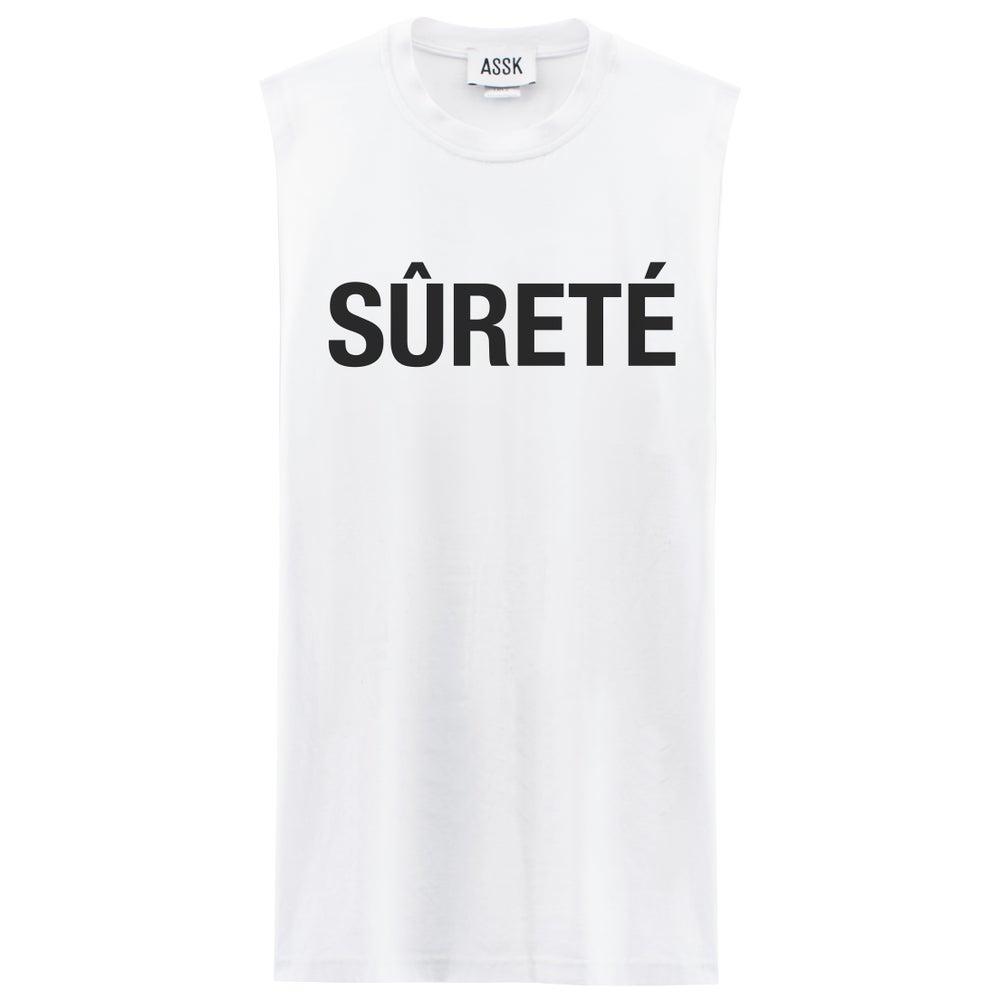 Image of SECURITY Sleeveless T-shirt - White