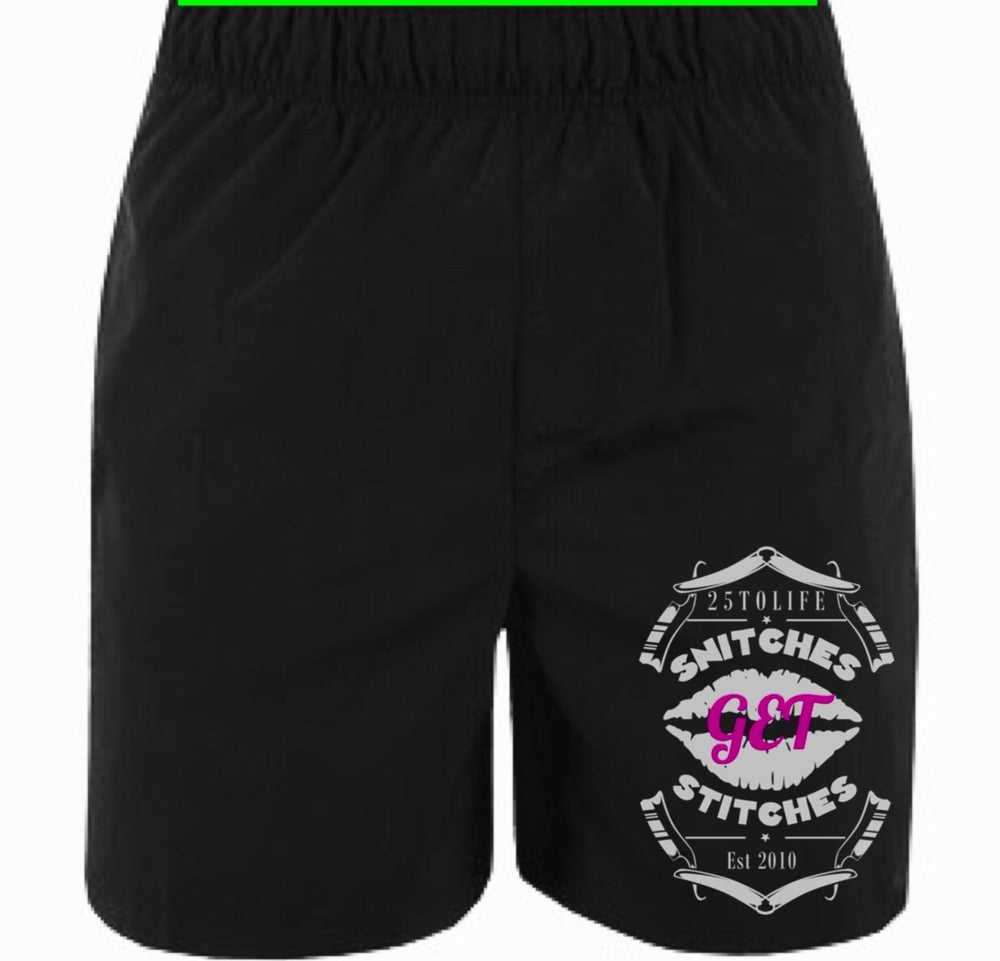 "Image of ""Snitches Get Stiches mosh/festival Shorts"""