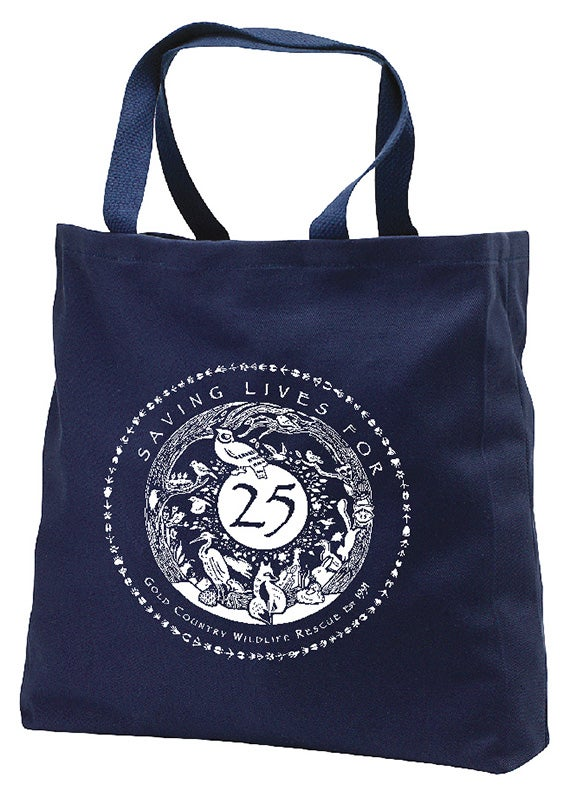 Image of Tote Navy with Special GCWR 25th Anniversary Logo