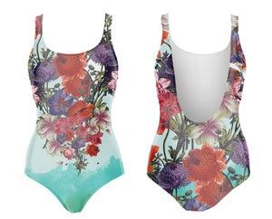 Image of Whale Flowers maillot de bain une-pièce