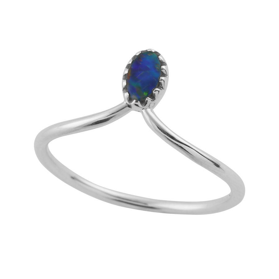 Image of Sterling Silver & Opal Lux Ring