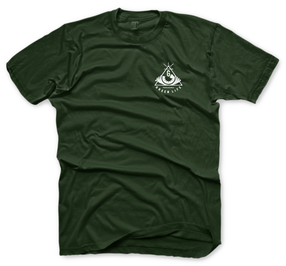 Image of The Hidden Views Tee in Forest Green