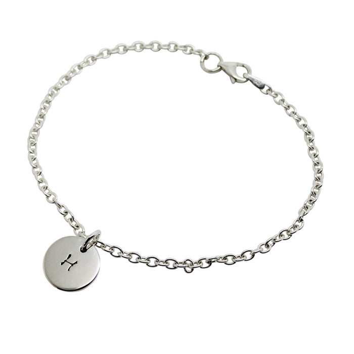 Image of Personalised Initial Circle Charm Bracelet