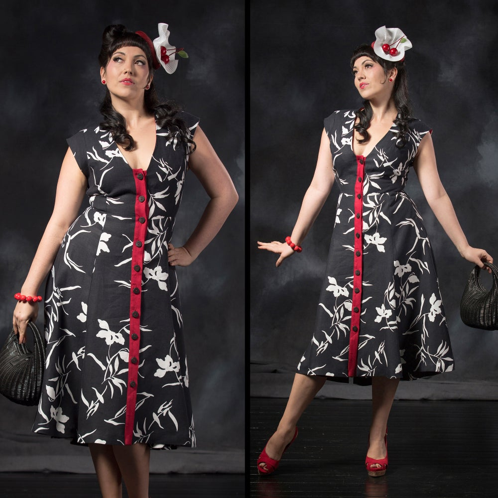 Image of RISING SUN LINEN DRESS