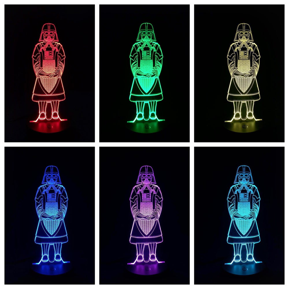 Image of DarthTerra acrylic on color changing LED light