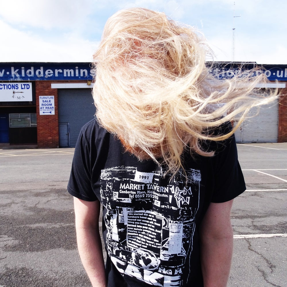 Image of CAKE (UK) - LIMITED EDITION KIDDERMINSTER MARKET TAVERN HARDCORE SHIRT