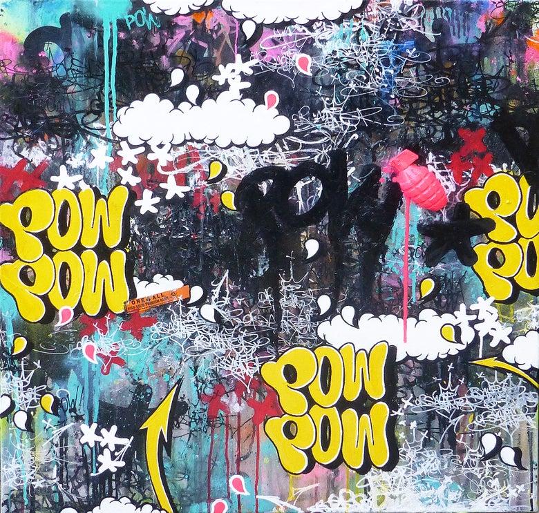 Image of PINK BOUM BOUM JP MALOT X POW STREET ART 80X80