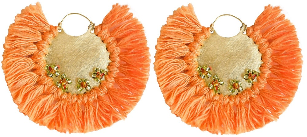 Image of Pavone Earrings- Orange