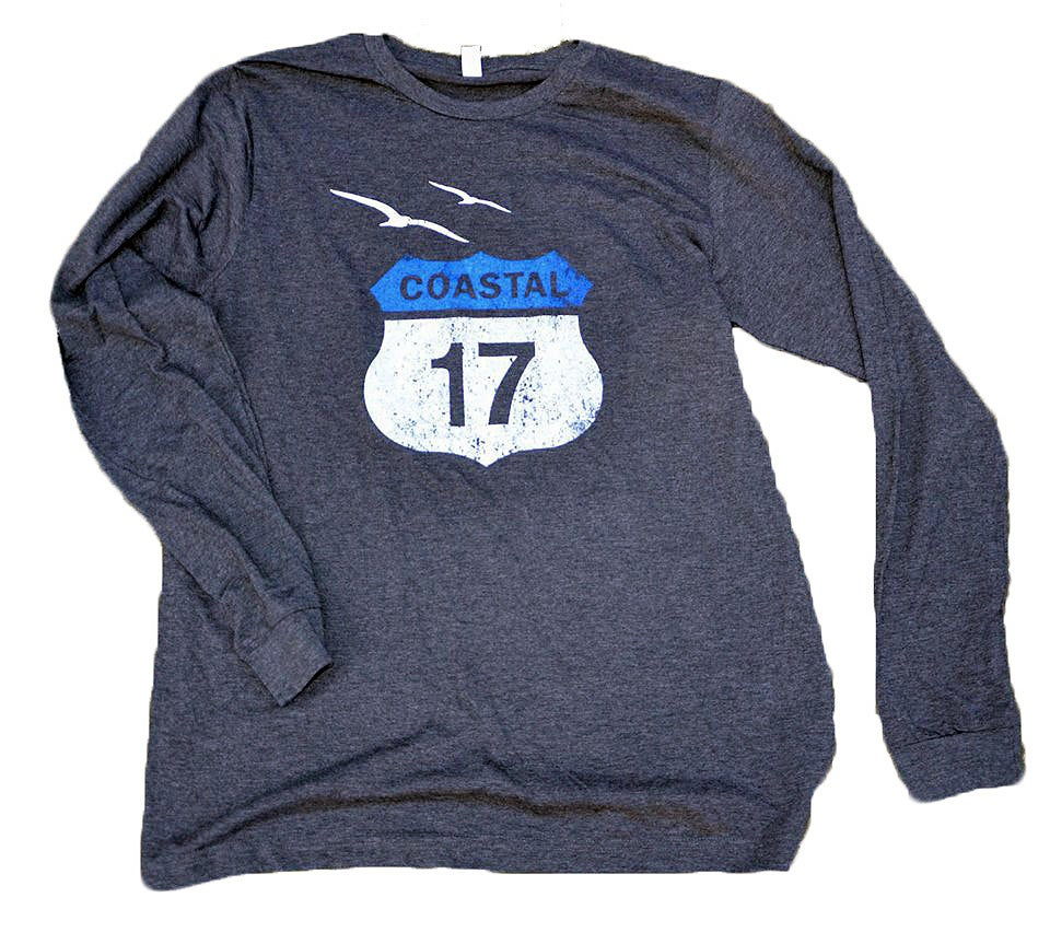 Image of Long-Sleeves in Grey with Coastal 17 Logo