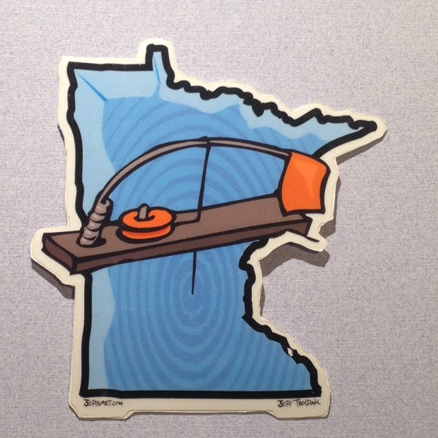 Image of Minnesota Tip Up Sticker - 2 Total