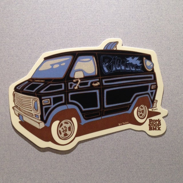 Image of Pork Chop BMX Van Sticker