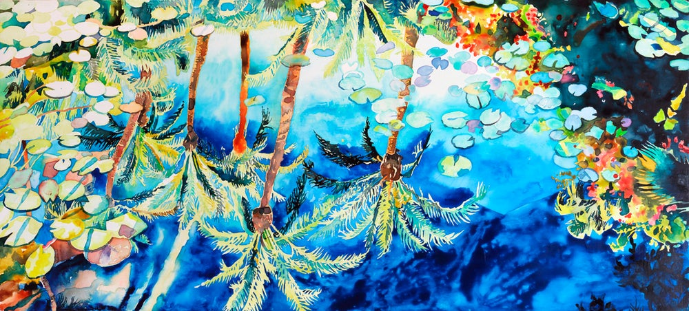 Image of Mirrored Palms (Majorelle)