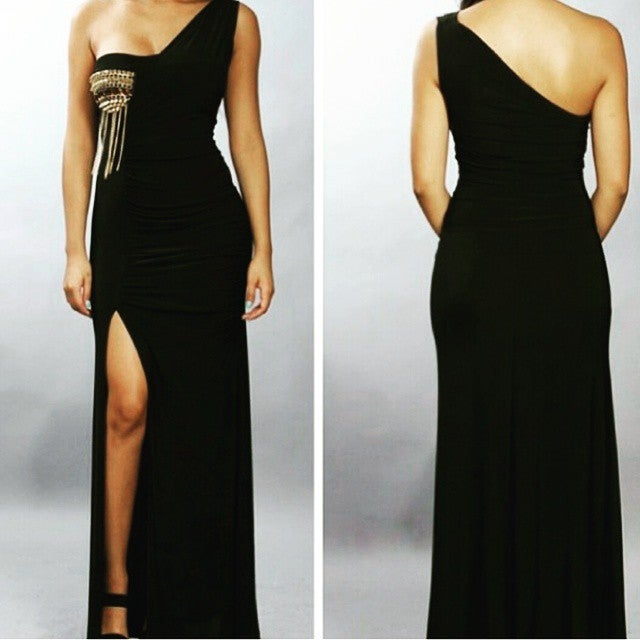 Image of  One Shoulder Dinner Dress