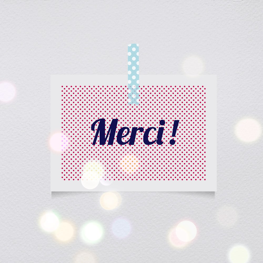 Image of Cartes-postales Merci !