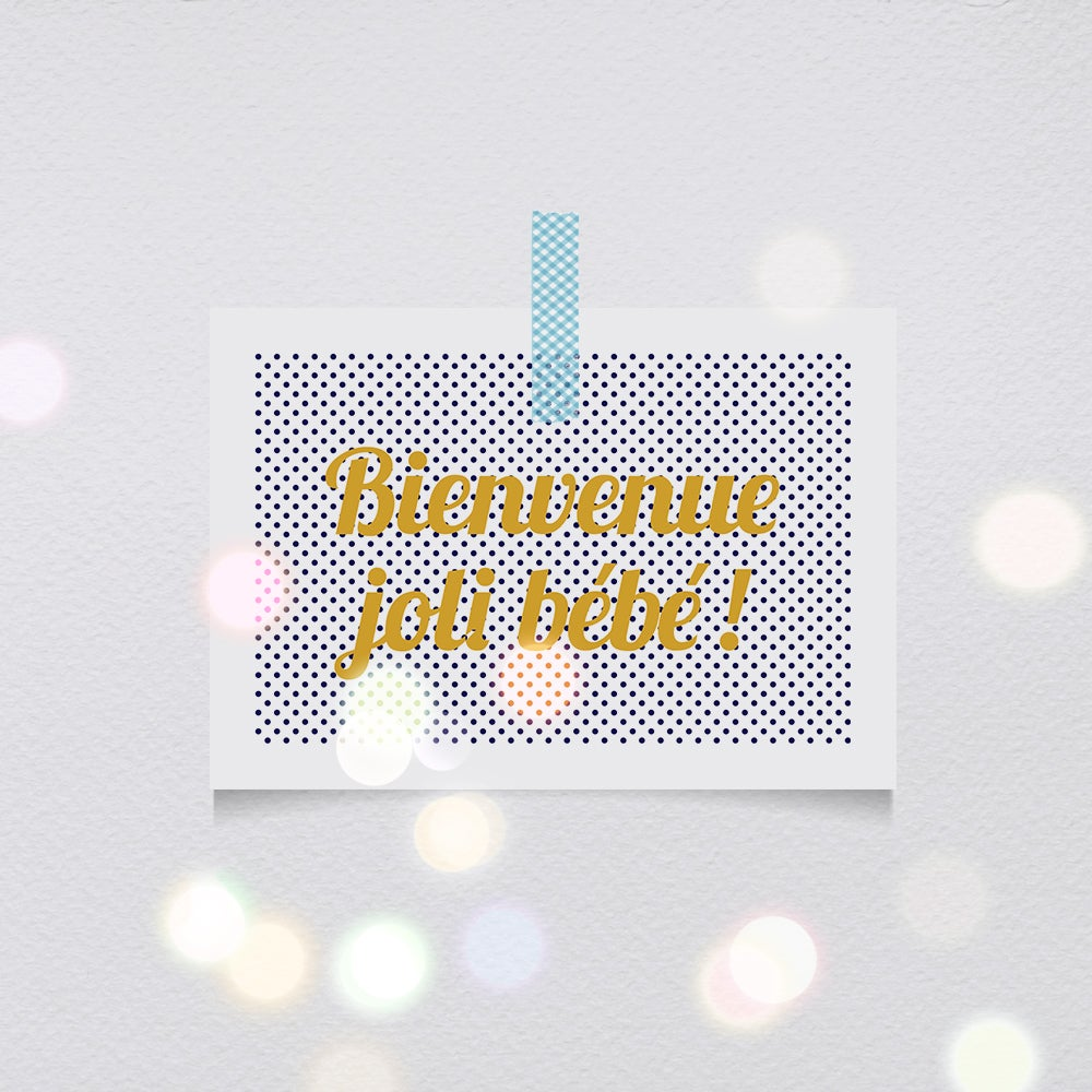 Image of Cartes-postales Bienvenue joli bébé !