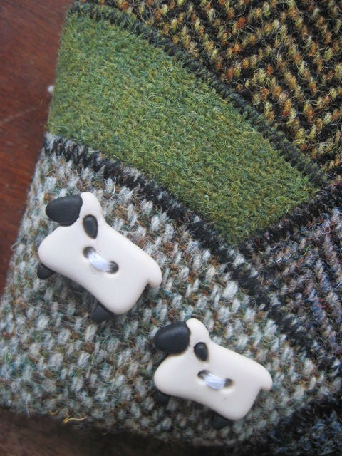 Image of Harris Tweed Landscape purse (earthy tones) - Made to Order