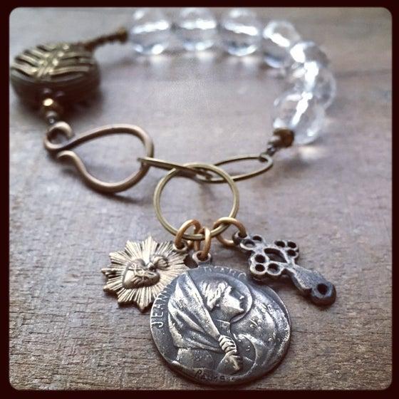 Image of ST. JOAN OF ARC Crystal Bracelet