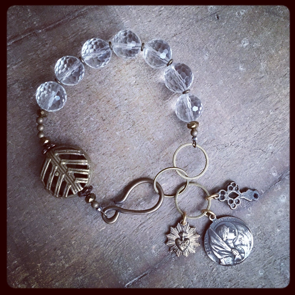 Image of ST. JOAN OF ARC Crystal Bracelet