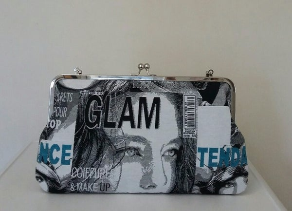 "Image of Limited edition, handmade LARGE 12"" glam clutch bag"