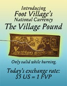Image of THE VILLAGE POUND currency (patches!!!)