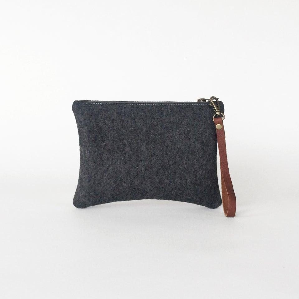 Image of Zipper Wristlet Charcoal