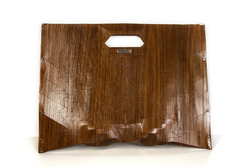 Image of Clutch in wood - Aztec with handle