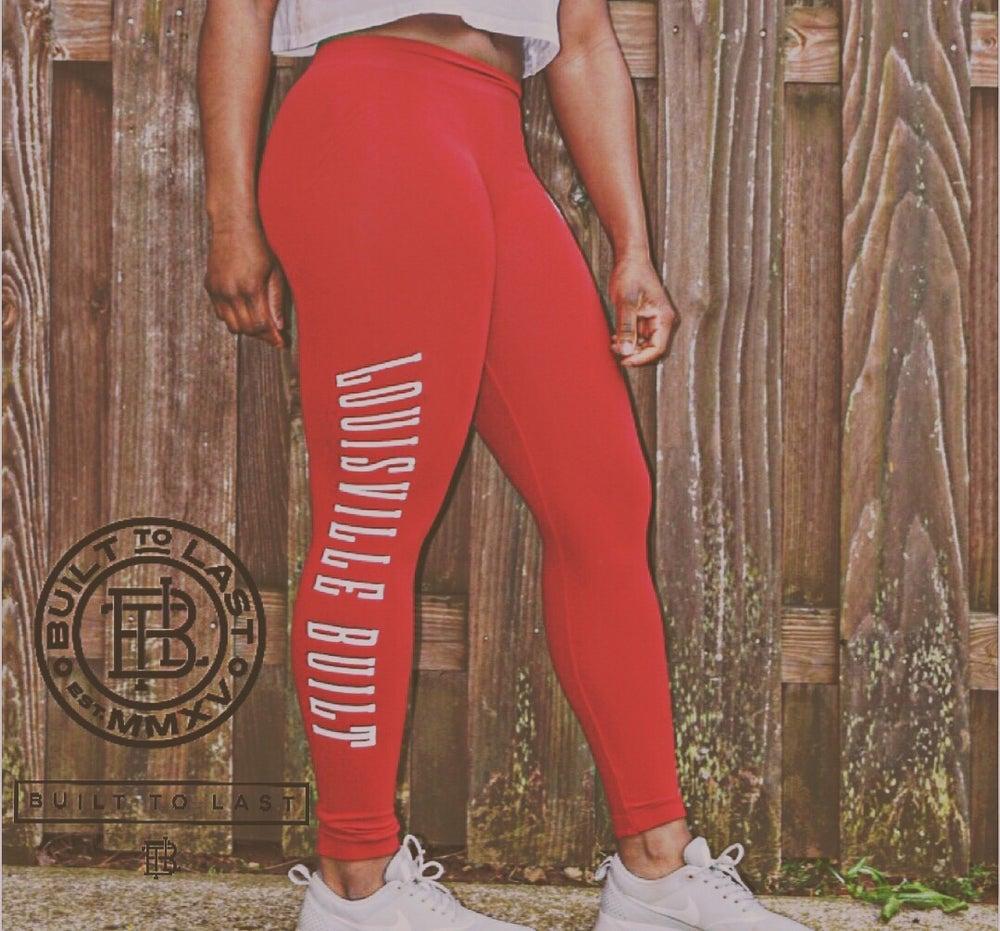 Image of Ladies LouisvilleBUILT Leggings R/W