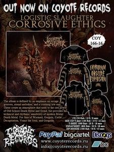 Image of LOGISTIC SLAUGHTER Corrosive Ethics CD / T-shirt / Sweatshirt / Hoodie