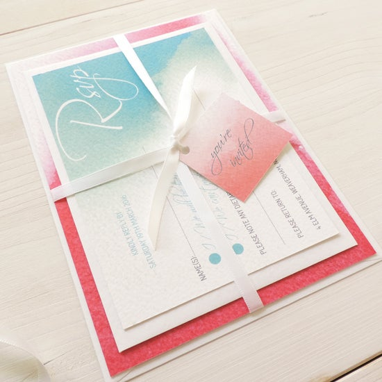 Image of Love Haze Bespoke Wedding Invitation and RSVP Bundle