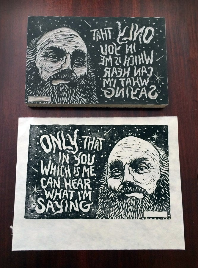 Image of Ram Dass block print