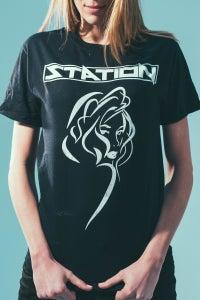 Image of Black Yvette T-Shirt (Men's/Women's Sizes)