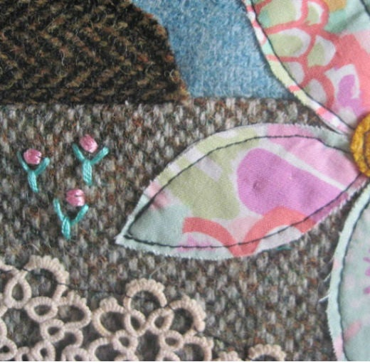 Image of 'Flowers on the Machair' Tweed Collage