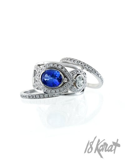Carrie's Sapphire Ring - 18Karat Studio+Gallery